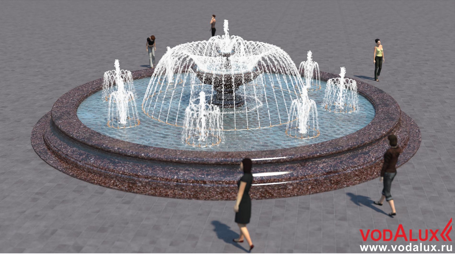 фонтан картинка с размерами изгородь спиреи