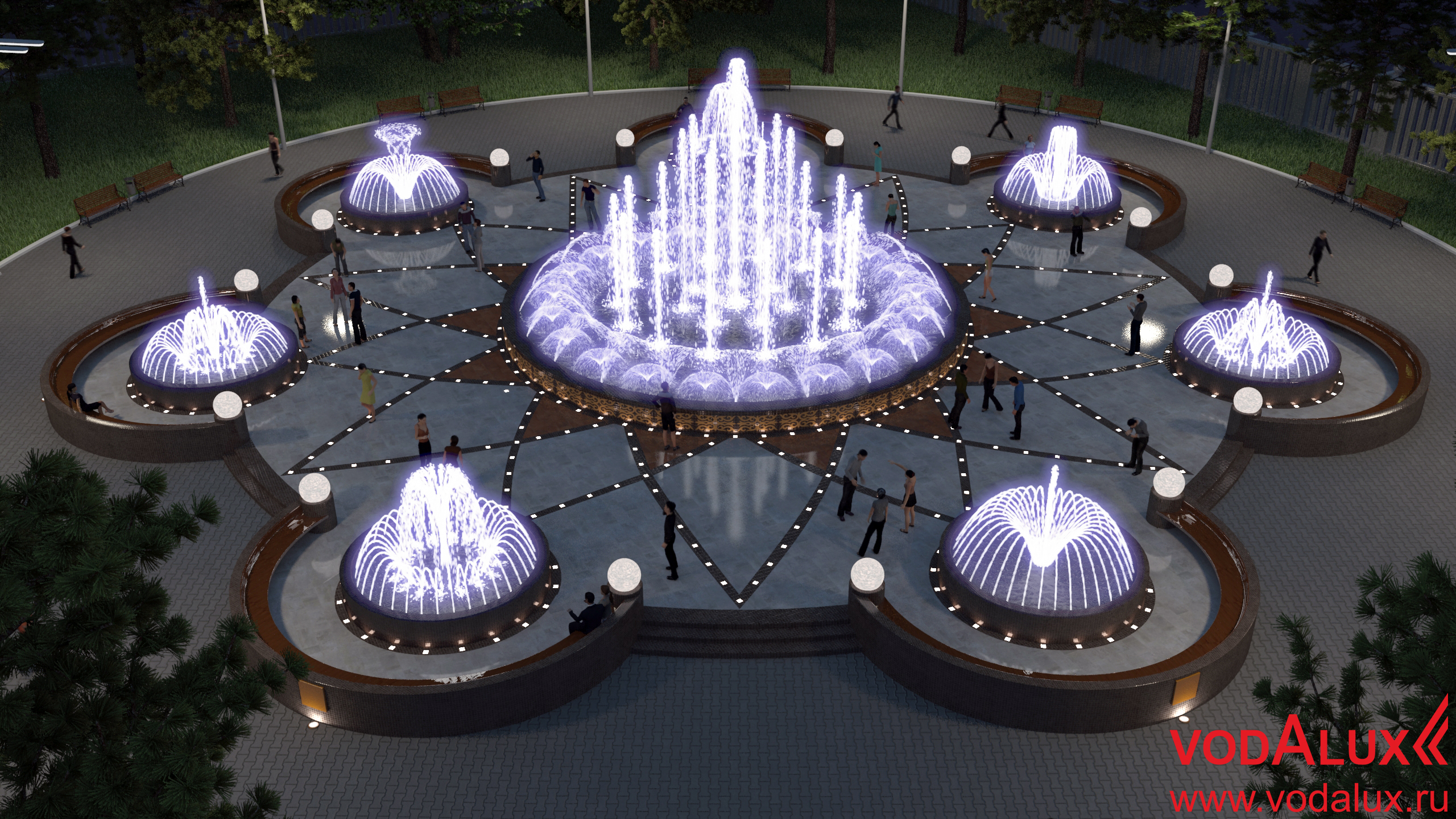 фонтан картинка с размерами мягких