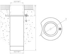 Male-Female Floor/Wall Fitting TK-400